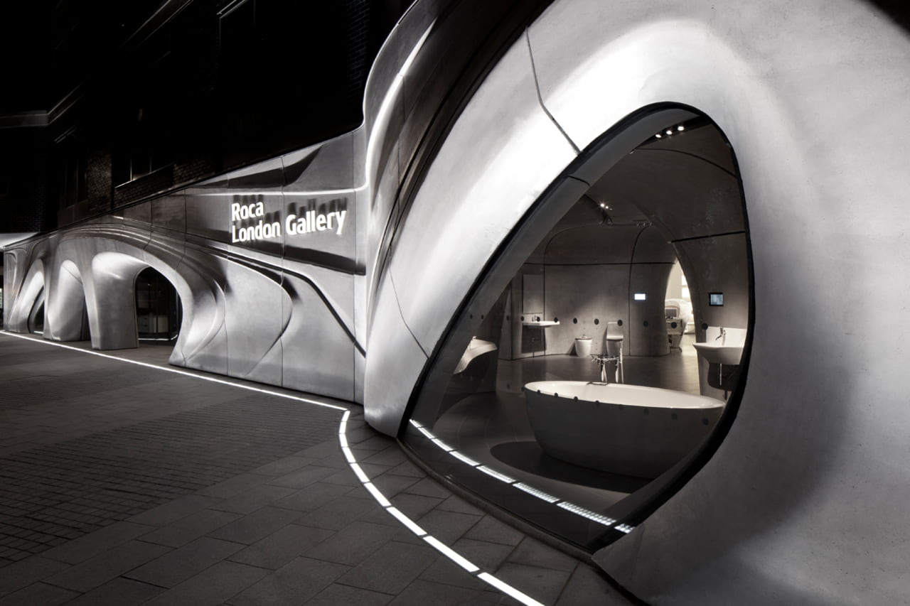 Video about the design and construction of Roca London Gallery by Zaha Hadid Architects